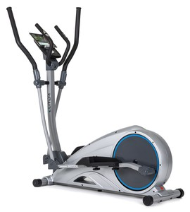 Crosstrainer Elitum MX1000 Elliptical Heimtrainer Ellipsentrainer mit Smartphone Steuerung Bluetooth 4.0 + Google Street View Silber