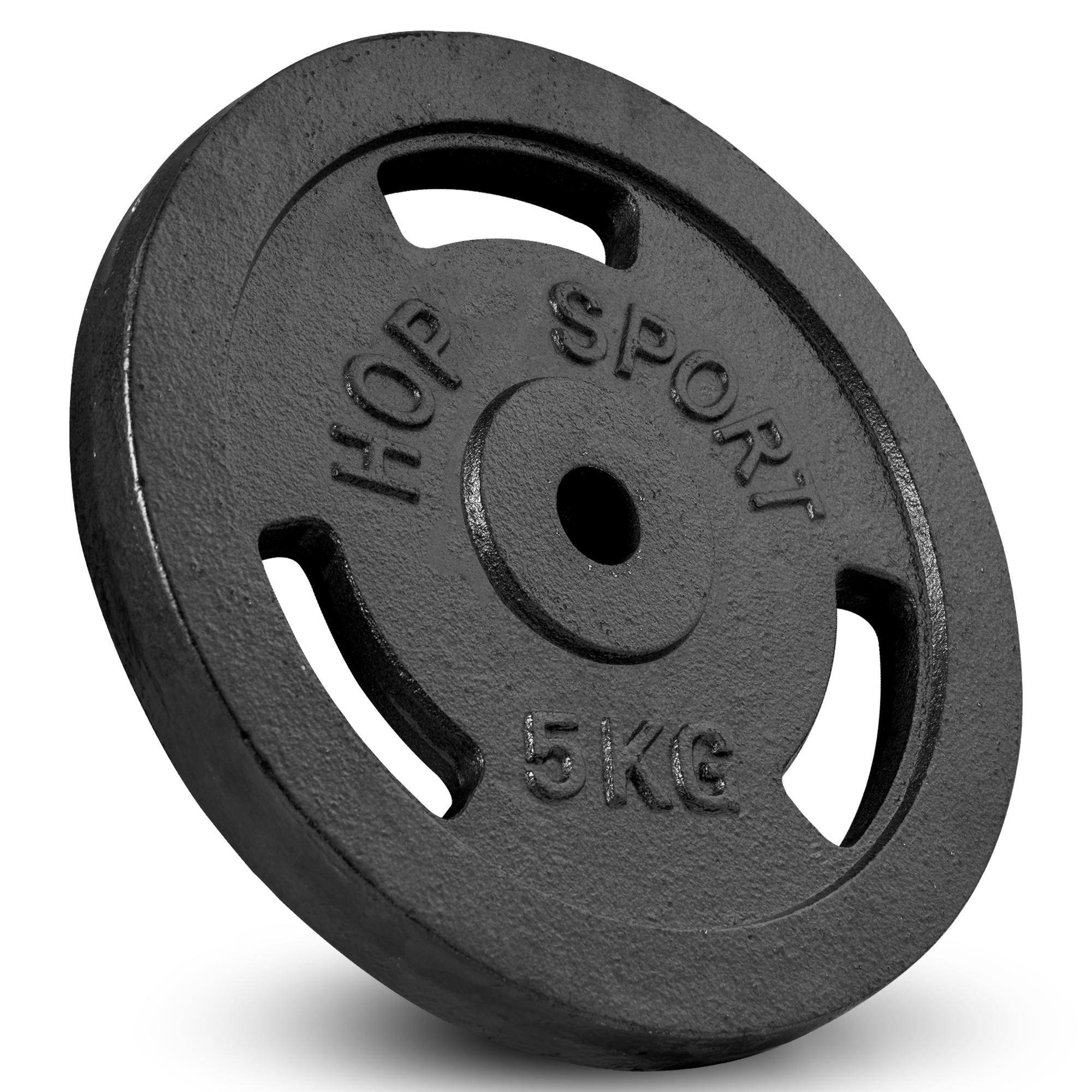Hop-Sport Hantelset 39 KG Langhantel Langhantelstange Hantelcheiben Gewichte