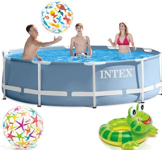 INTEX Metal Frame Swimming Pool 305x76 cm Schwimmbecken Schwimmbad 28700