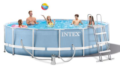 INTEX Prism Metal Frame Swimming Pool Schwimmbecken 457 x 122 cm Komplett-Set 26736