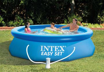 INTEX Easy Set Swimming Pool 366x76 cm Schwimmbecken Quick-Up Schwimmbad 28132 mit Filterpumpe