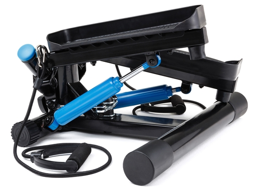 Elitum Mini Swing Twist Stepper NX300 Stepper mit Trainingsbändern Computer und einstellbarem Widerstand  - 4