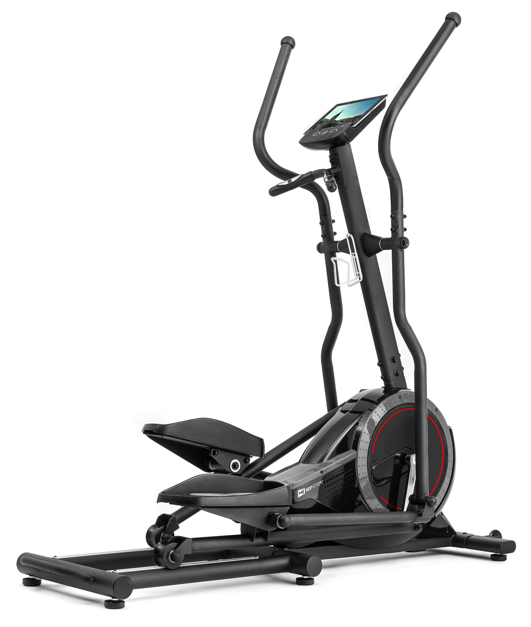 Crosstrainer HS-070C Buzz schwarz//grau von Hop-Sport Ellipsentrainer mit Pulsmessung 18kg Schwungmasse Belastbarkeit bis 150kg