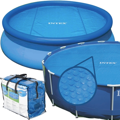 Intex 29023 Solarabdeckplane Ø 457 cm für Easy Set und Frame Pools  - 1