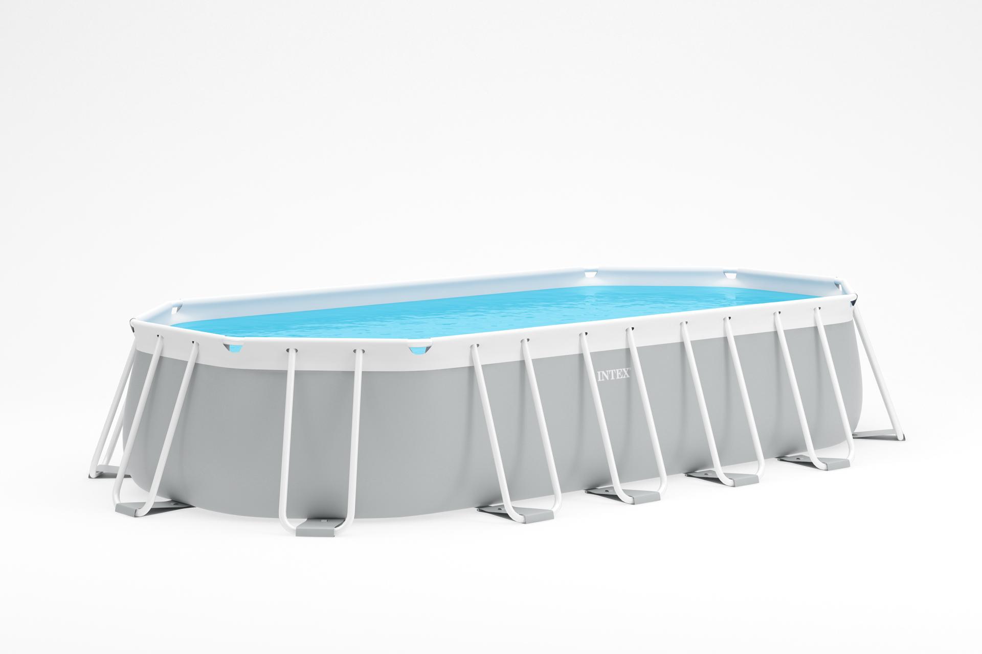 INTEX Prism Frame Oval Swimming Pool 610x305x122 cm Schwimmbecken 26798