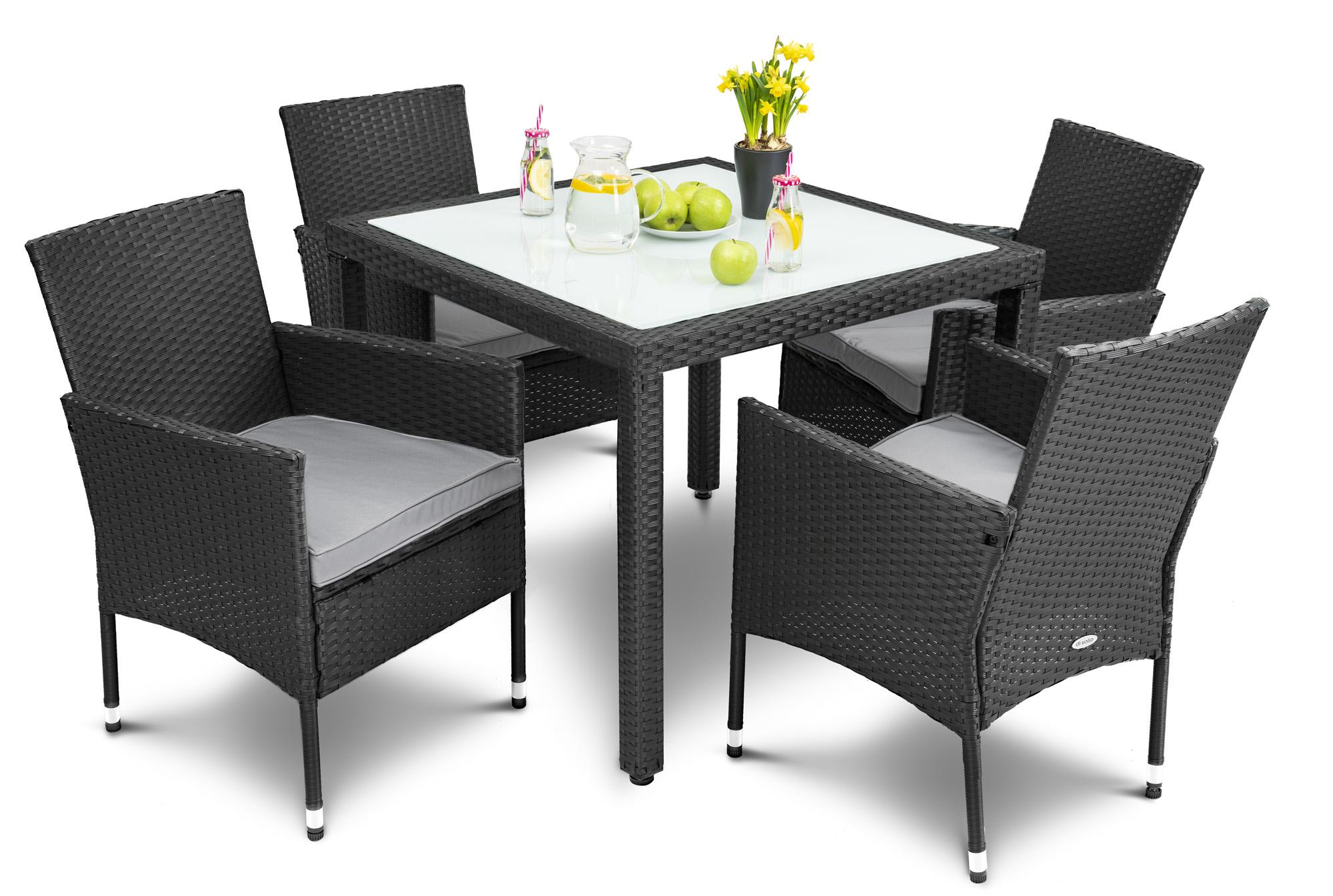 Divolio Gartenmobel Set Mit Tisch Und Stuhlen Verona Set 4 1
