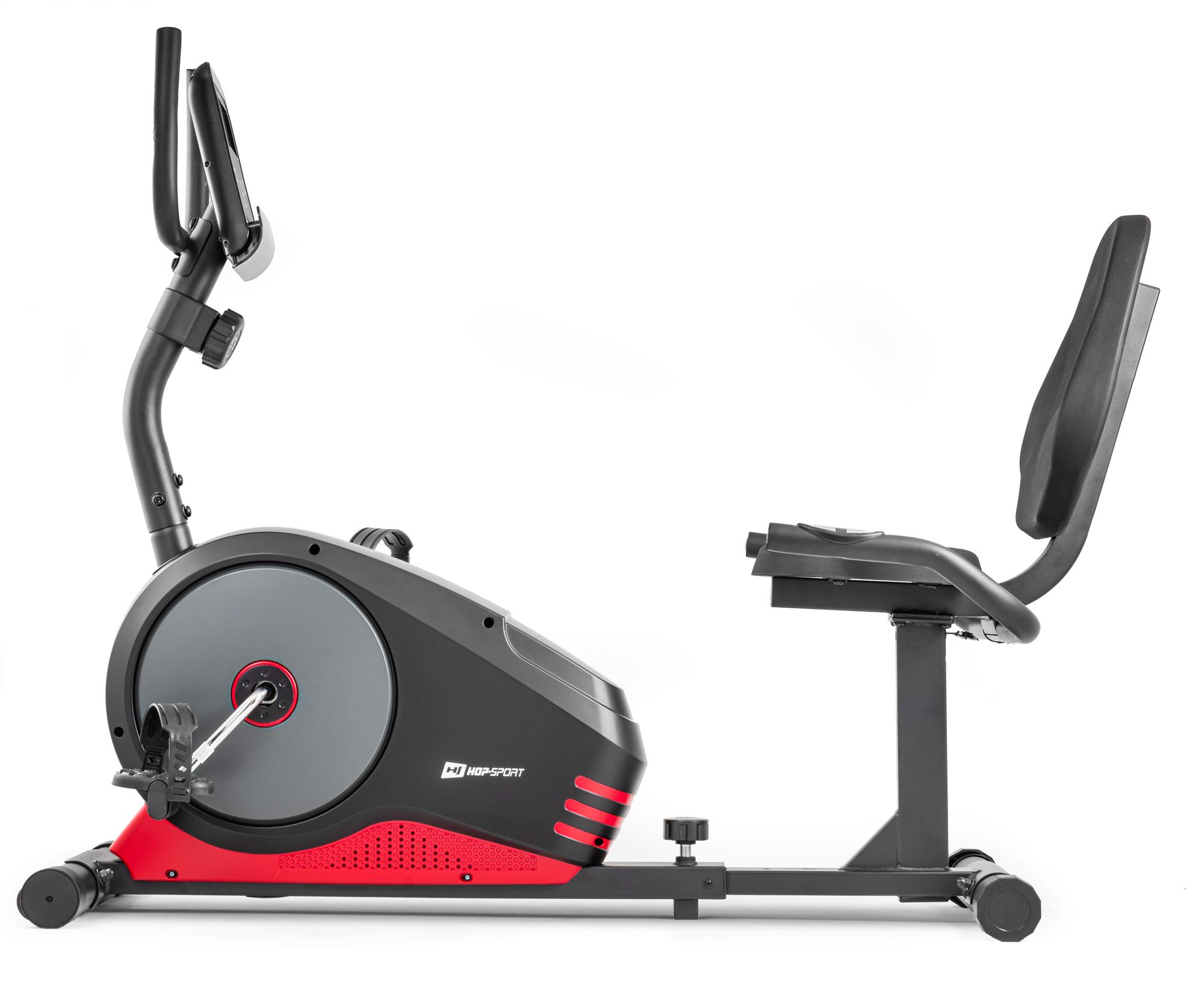 Hop-Sport HS-040L Root Liege-Heimtrainer Sitz-Ergometer Schwarz//Rot//Grau