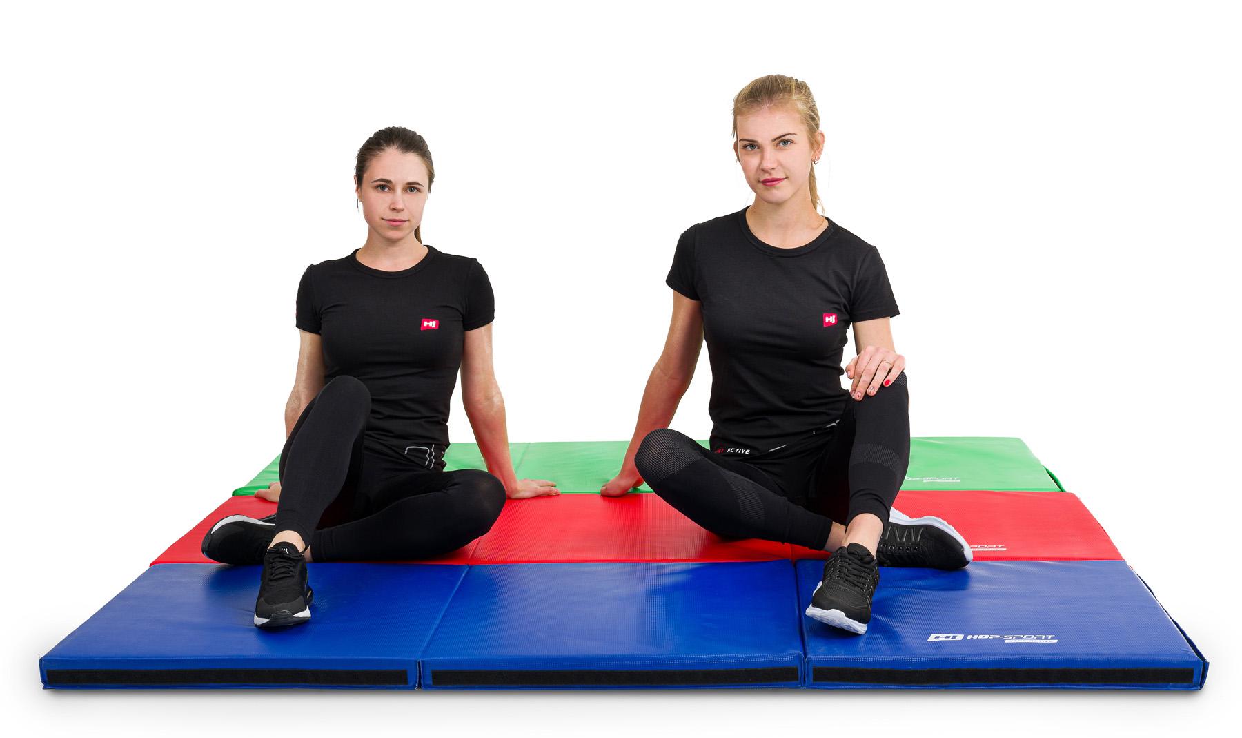 Faltmatte Gymnastikmatte Anti-Rutsch hart 5cm HS-065FM Rot