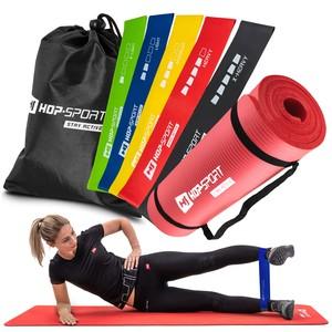 Hop-Sport Fitness-Set Gymnastikmatte NBR 1,5cm mit Faszienrolle 30cm EPP