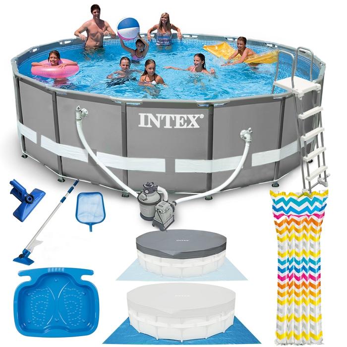 INTEX Ultra Frame Swimming Pool 488x122cm Schwimmbecken Stahlrahmen ...