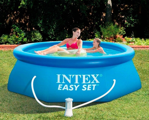 INTEX Easy Set Swimming Pool 305x76 cm Schwimmbecken Quick-Up Schwimmbad 28122 mit Filterpumpe - 2