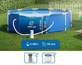 INTEX Metal Frame Swimming Pool 305x76 cm Schwimmbecken Schwimmbad 28202