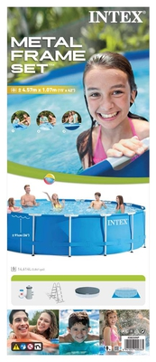 Swimming Pool 28234 Intex Metal Frame 457 x 107 cm mit Pumpe  - 10