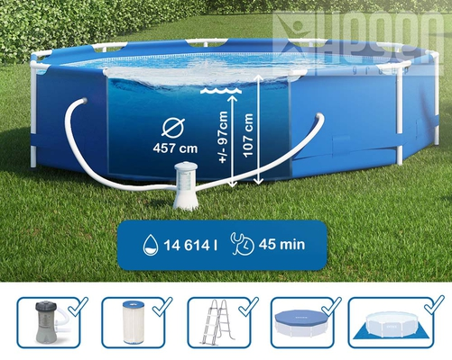 Swimming Pool 28234 Intex Metal Frame 457 x 107 cm mit Pumpe  - 3