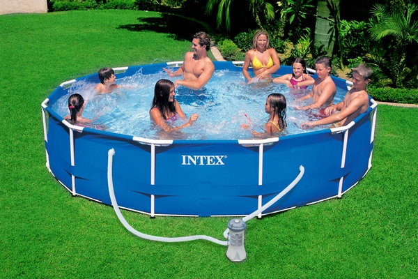 Swimming Pool 28234 Intex Metal Frame 457 x 107 cm mit Pumpe  - 2