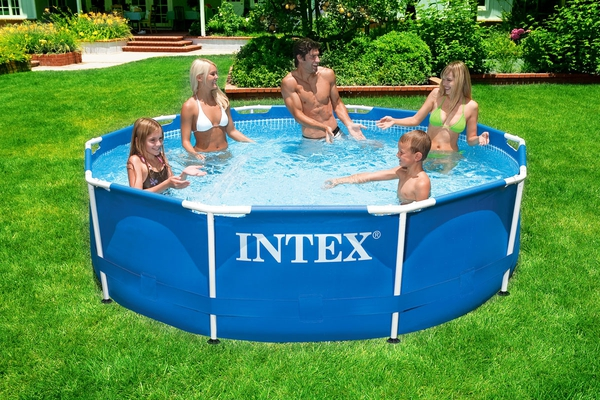 Swimming Pool 28234 Intex Metal Frame 457 x 107 cm mit Pumpe  - 4