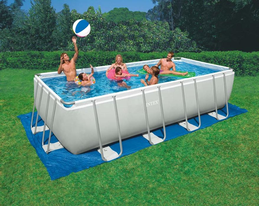 INTEX Ultra Frame Swimming Pool 549x274x132 cm Rechteck Stahlwand ...