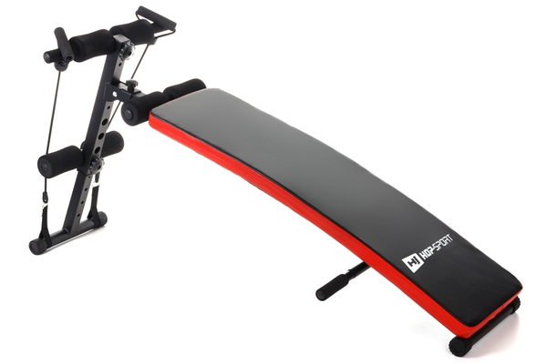 Hop-Sport Sit up Bank HS-1014 mit Expander Trainingsbank Bauchtrainer - 1