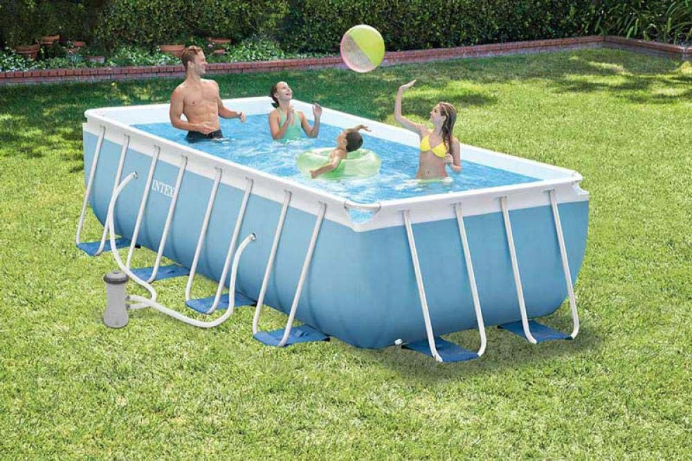 Intex Prism Frame Swimming Pool 400x200x100 Cm Rechteck Stahlwand