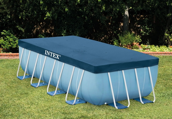 INTEX Prism Frame Swimming Pool 488x244x107 cm Rechteck Stahlwand Leiter & Pumpe 28318 - 3