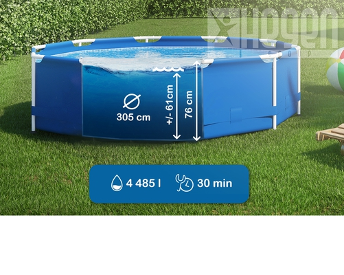 INTEX Metal Frame Swimming Pool 305x76 cm Schwimmbecken Schwimmbad 28200 - 2