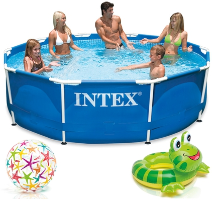 INTEX Metal Frame Swimming Pool 305x76 cm Schwimmbecken Schwimmbad 28200 - 1