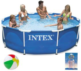 INTEX Metal Frame Swimming Pool 305x76 cm Schwimmbecken Schwimmbad 28200