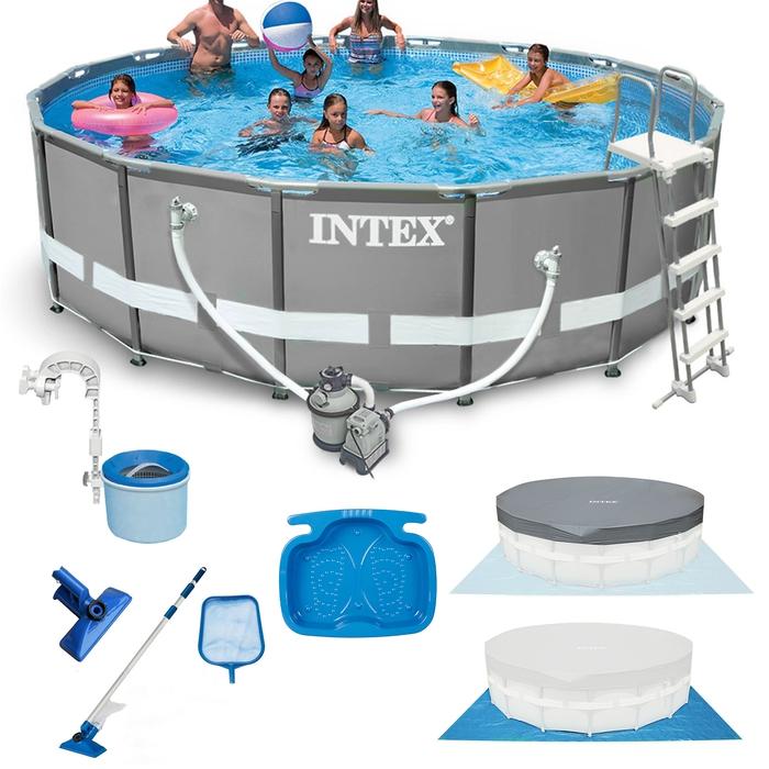 INTEX Ultra Frame Swimming Pool 549x132 cm Schwimmbecken Stahlrahmen ...