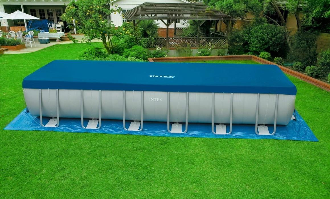 INTEX Ultra Frame Swimming 732x366x132 cm Rechteck Stahlwand ...