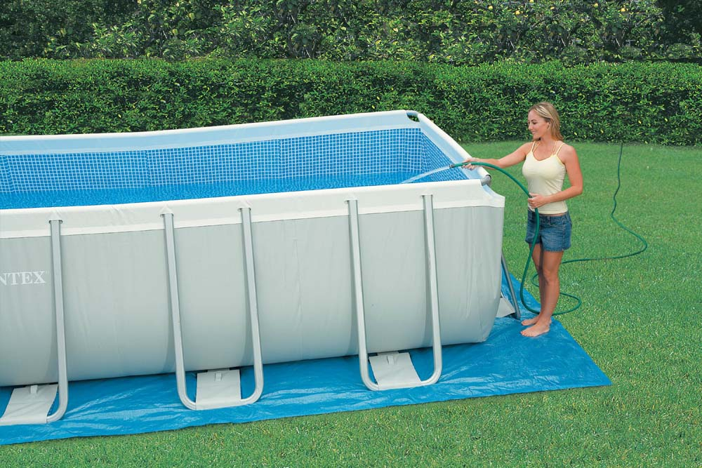 Intex Ultra Frame Swimming Pool 975x488x132 cm Rechteck Stahlwand ...