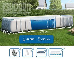 Intex Ultra Frame Swimming Pool 975x488x132 cm Rechteck Stahlwand 28372